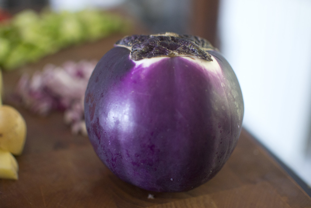 This is what the Viola eggplant varietal looks like.