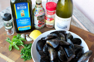 Pasta alle cozze ingredients